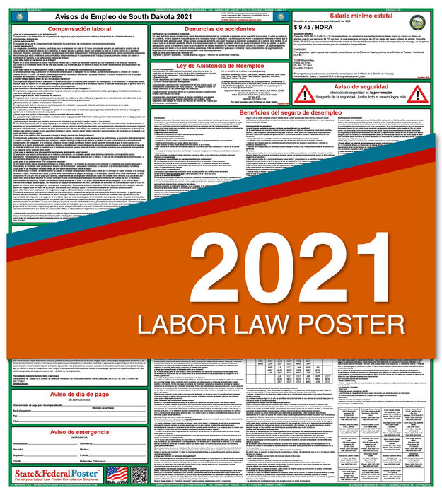 South Dakota State Labor Law Poster 2021 (Spanish)
