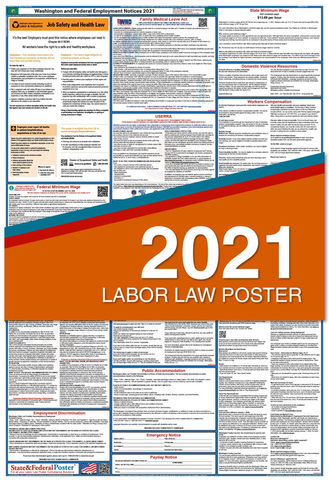 Washington State and Federal Labor Law Poster 2021