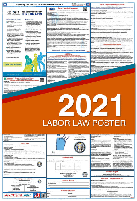 Wyoming State and Federal Labor Law Poster 2021