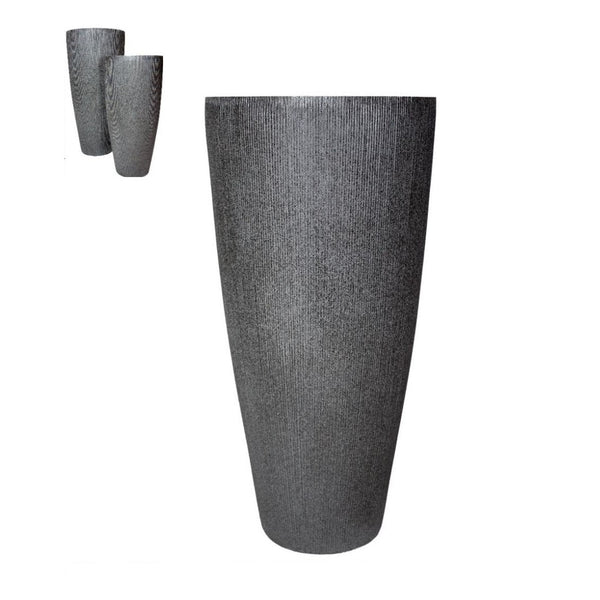 "RIALTO 40"" DARK GRAY OUTDOOR PLANTER"