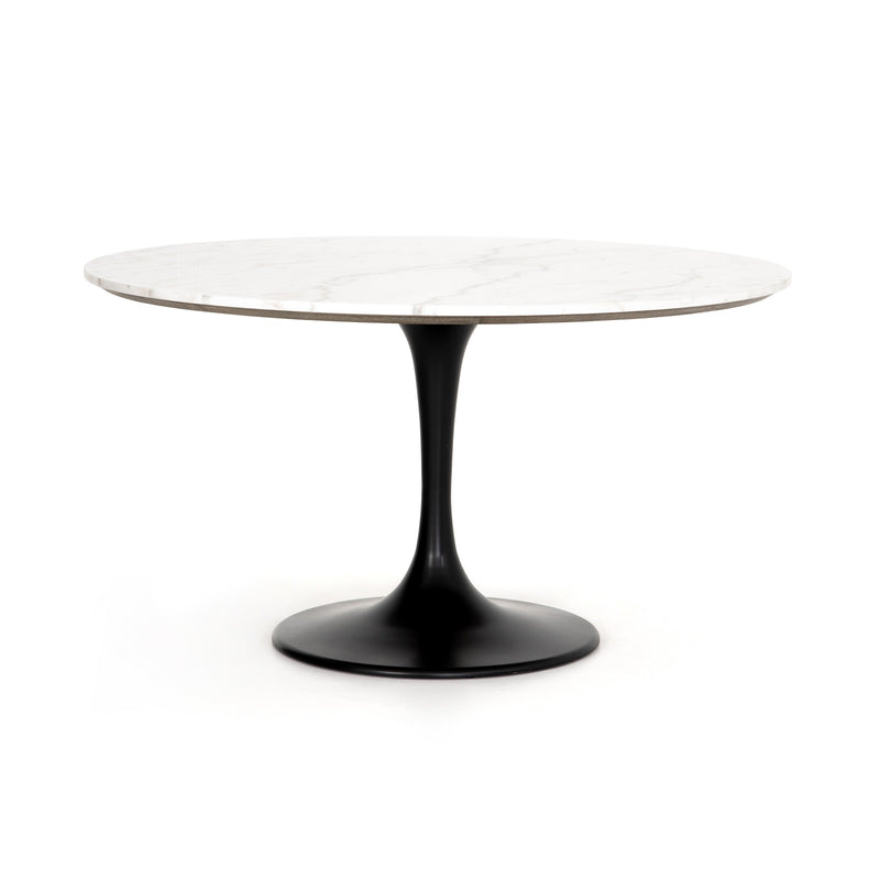Saarinen Table with White Round Marble Top
