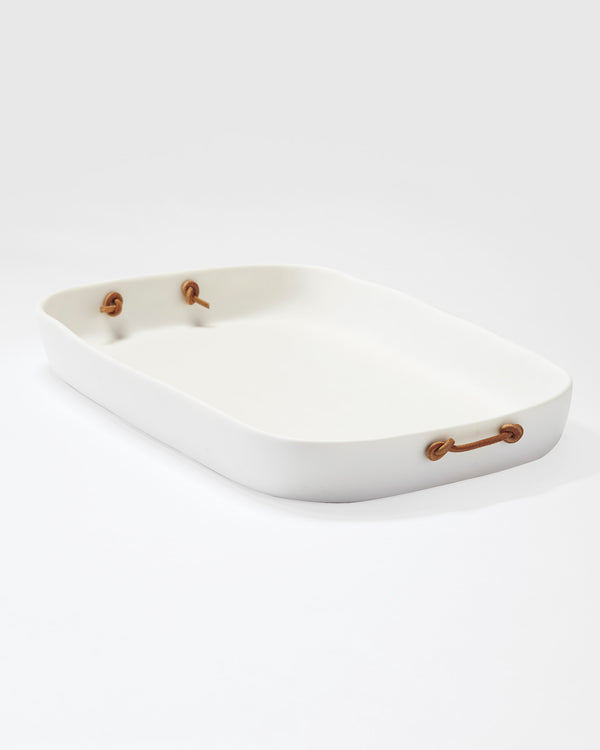 Rectangular Tray - Tina Frey - Resin White