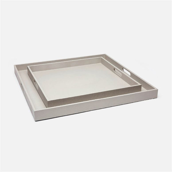 Emery XL Square Tray Set in Faux Shagreen