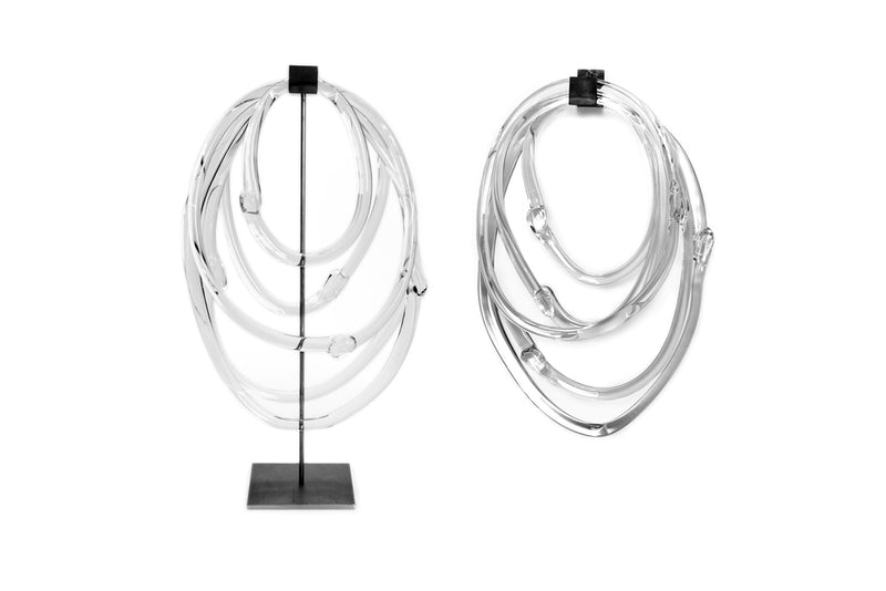 Handblown Glass Lasso Loops with Stand