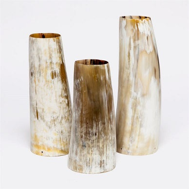 Aiden Vase Set in Natural Horn