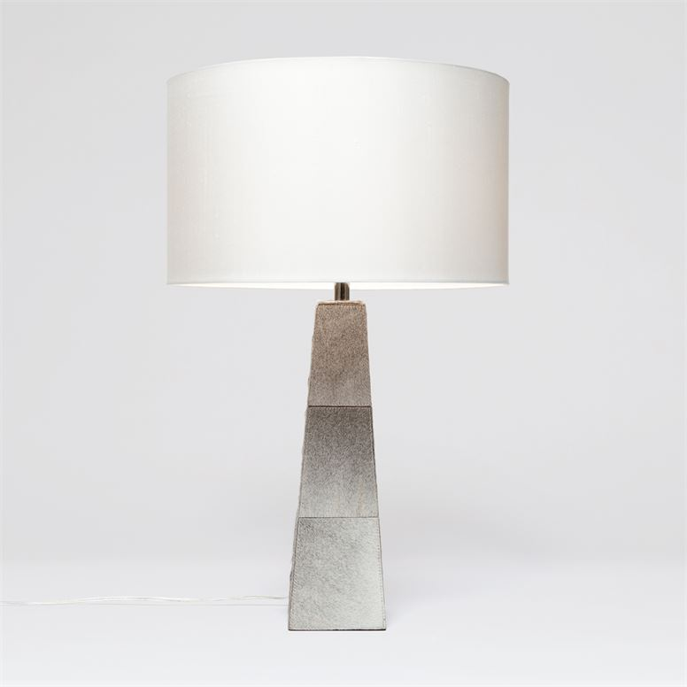 Made Goods Alumet Table Lamp with Gray Hair-On-Hide