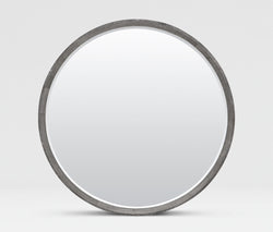 Made Goods Emma Faux Shagreen Round Mirror