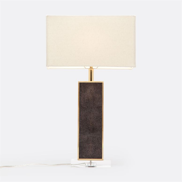 Kingston Table Lamp in Faux Shagreen