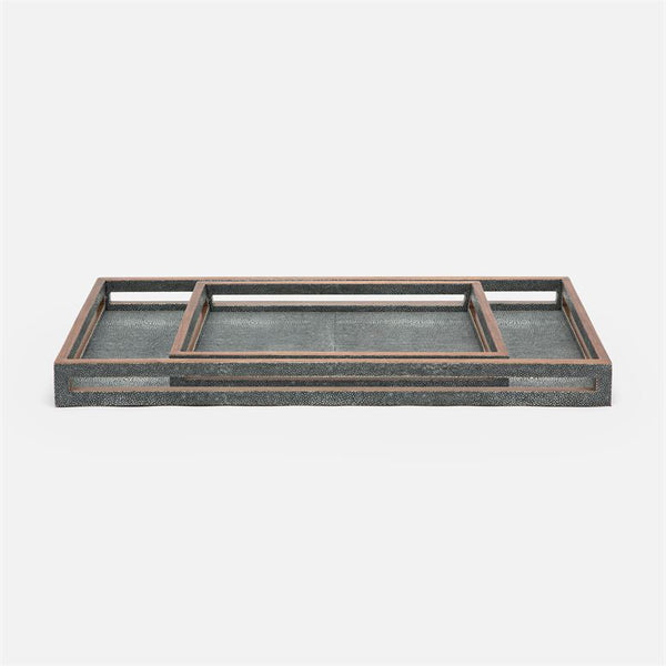 Radley Tray Set in Faux Shagreen