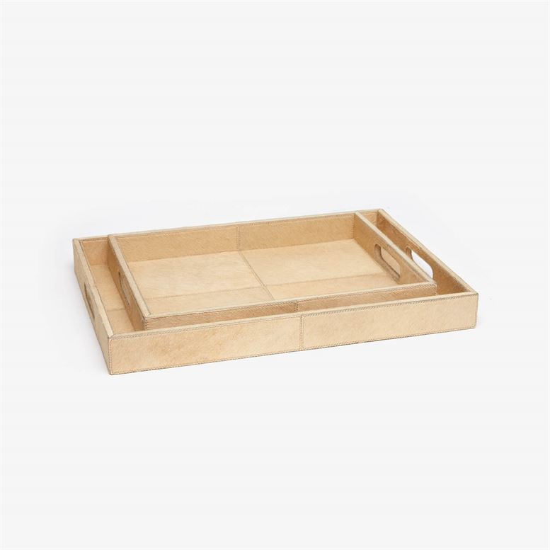 The Renard Hair on Hide Tray Set of 2