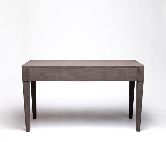 Sorin 2 Drawer Desk in Faux Shagreen