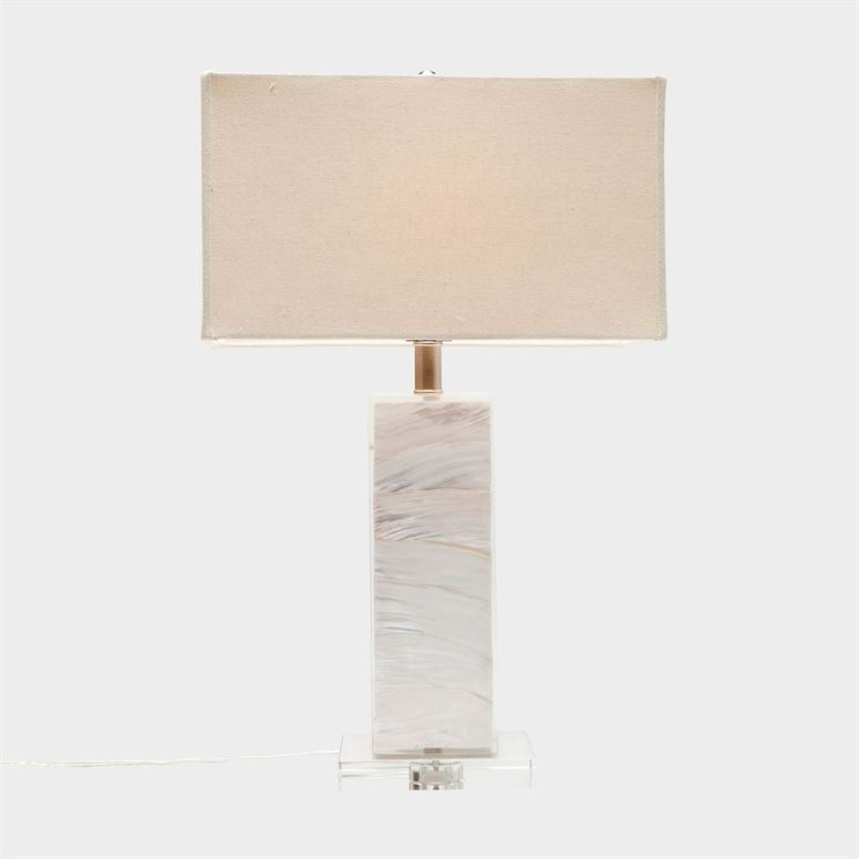 Zilia Table Lamp in Light Mop Shell