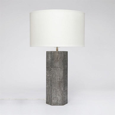 Poston Faux Shagreen Table Lamp