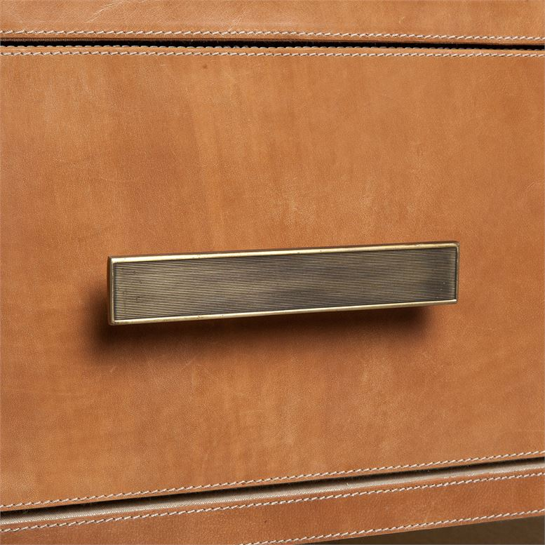 "DANTE 48"" FULL GRAIN LEATHER DRESSER"