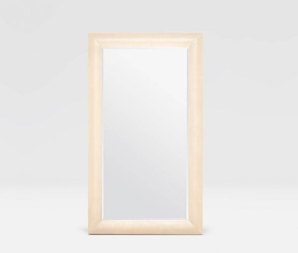 Carter Faux Raffia Wall and Floor Mirror