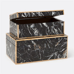 Harold Box Set in Nero Marble