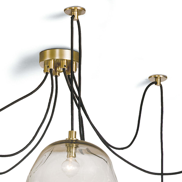 Molten Spider Chandelier Large in Brass or Nickel