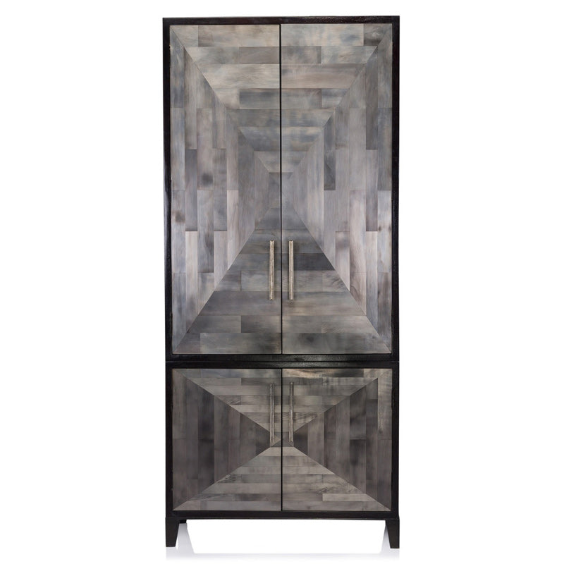 Oly Parker Armoire in Clear Silvering Finish Front