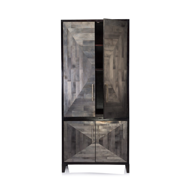 Oly Parker Armoire in Clear Silvering Finish