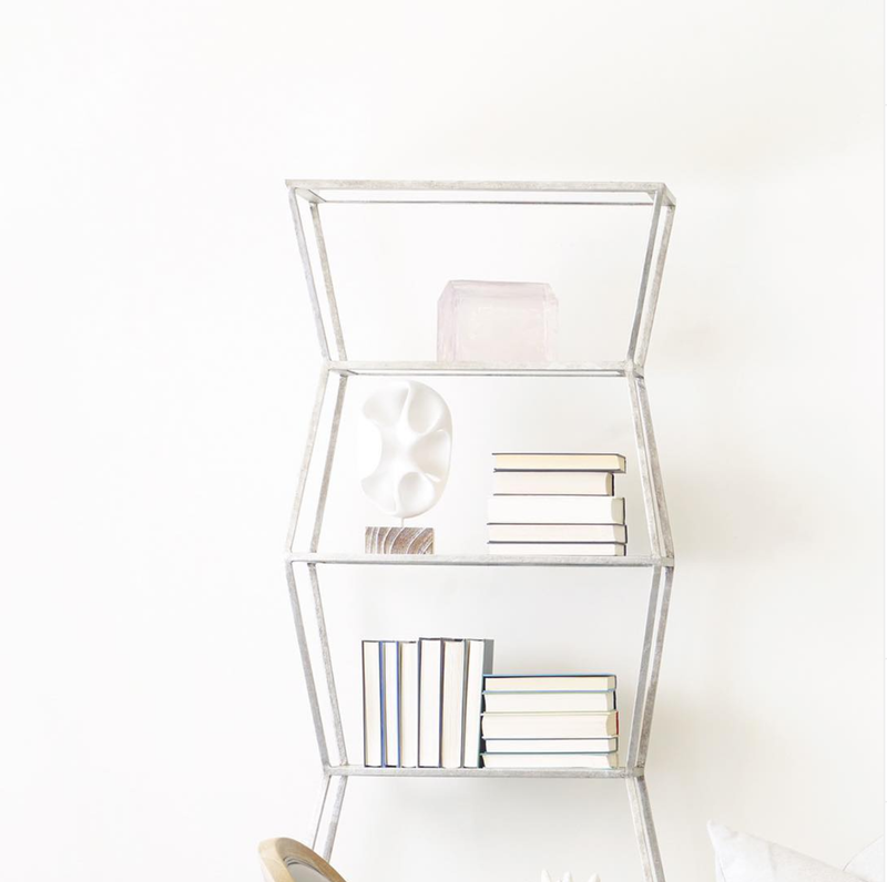 Astro Iron Book Shelf with Resin Shelving