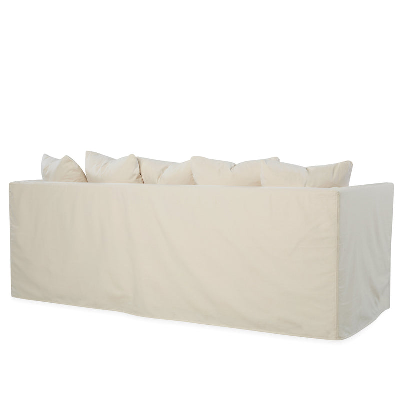 LEE C3681-03 White Pillow Top Sofa