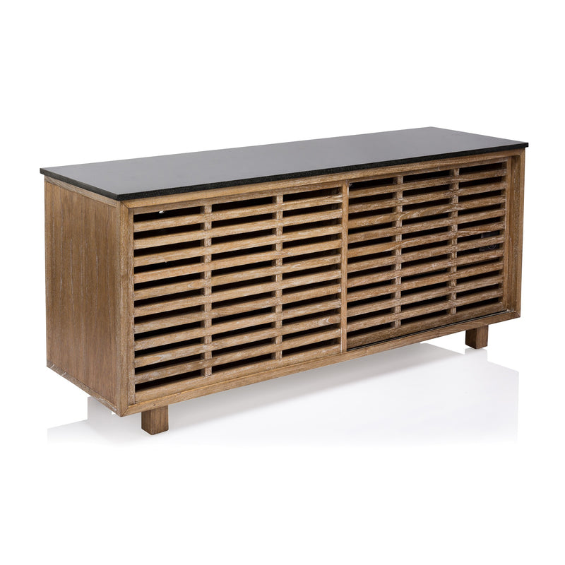 Coco Republic - Oly Dylan - Console - One Size - Timber - Black Entertainment Units