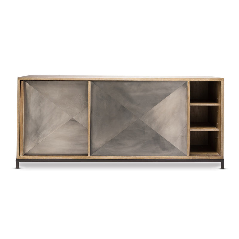 Coco Republic - Oly - Thor Cabinet - Grey - One Size - Storage Buffet Cabinet