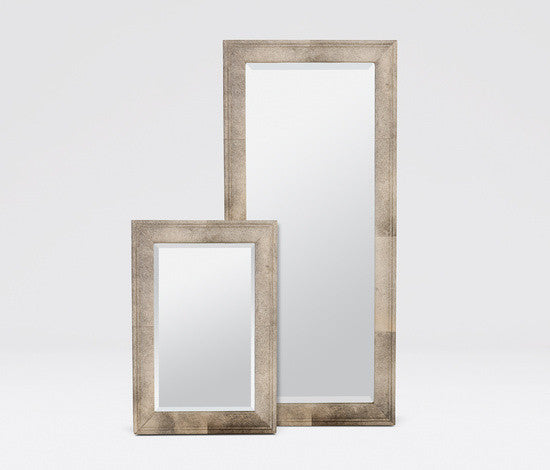 Charles Mirror Wrapped in Grey Hair on Hide
