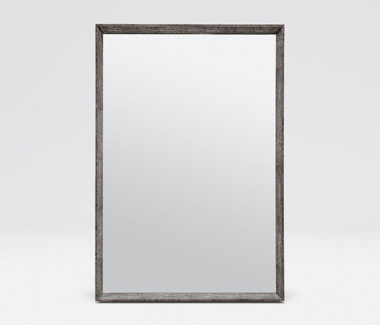 Made Goods David Mirror in Cool Grey Faux Shagreen