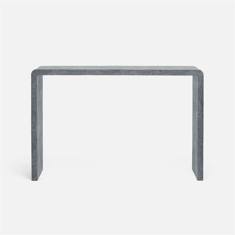 Faux Shagreen Harlow Narrow Waterfall Console