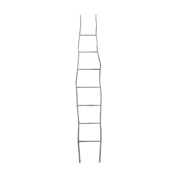 Oly Hand Hammered Iron Ladder - Black