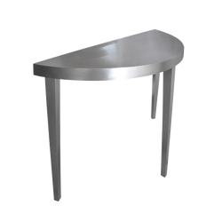 Oly Jett Half Round Console Stainless Small
