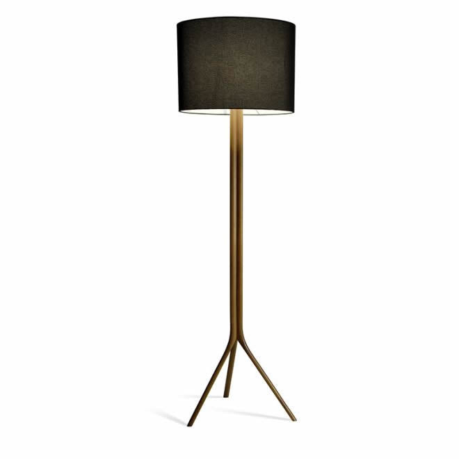 Cylindrical Shade Floor Lamp