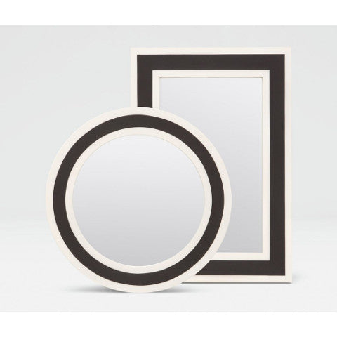 Made Good Beryl Mirror Rectangle and Circle White and Black Resin