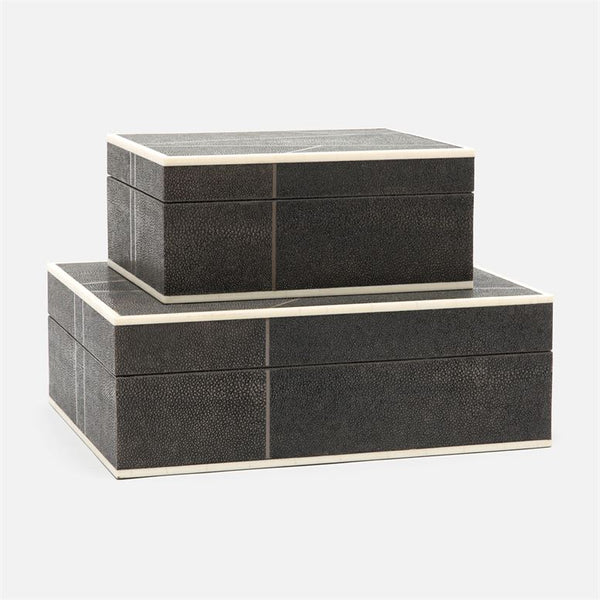 Breck Box Set in Faux Shagreen
