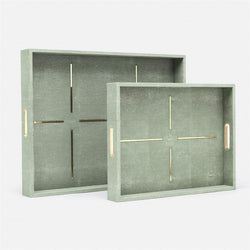 Daina in Faux Shagreen Set of Trays