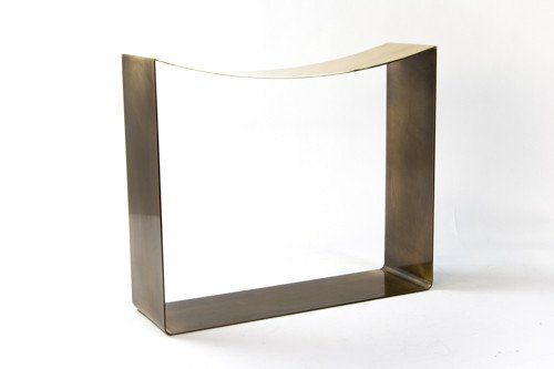 Ribbon Stool in Darkened Brass or Steel