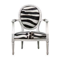 Oly Sophie Lounge Chair - White Zebra