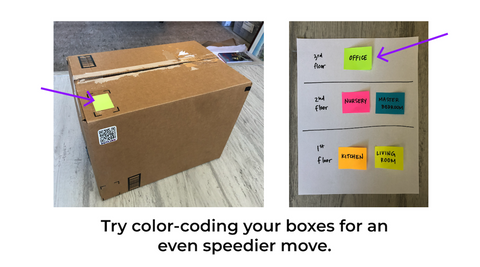 Color Code Your Moving Boxes