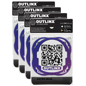 outlinx astro head qr smart sticker pack bundle