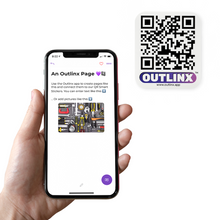 outlinx mobile app the original qr smart sticker
