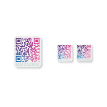 Outlinx Sunrise Nebula QR Smart Stickers, Bundle of 4 Packs, 40 stickers