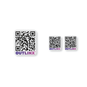 Outlinx The Original QR Smart Stickers, Bundle of 4 Packs, 32 stickers