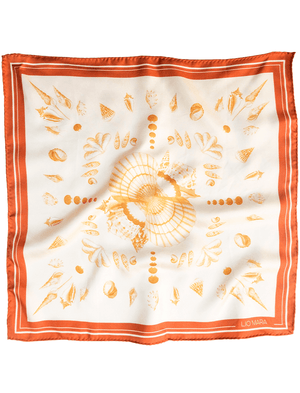 Lio Mara Golden Shell Small Silk Scarf UK