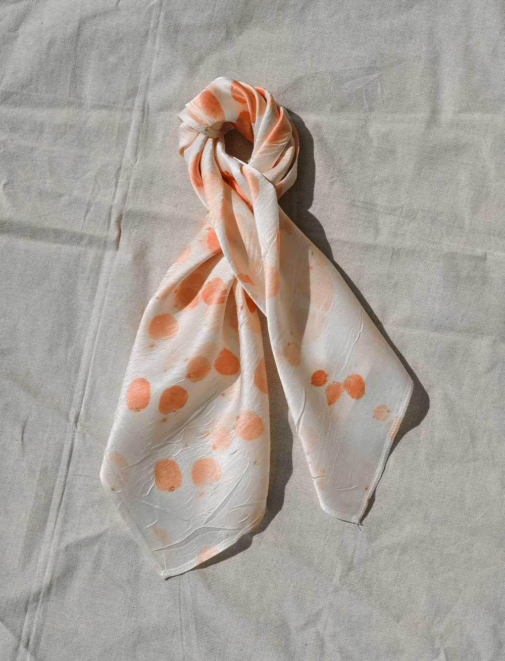 Soft Peach Pink Botanically Dyed Silk Scarf