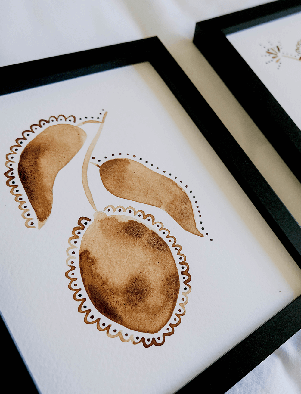 Lio Mara Handpainted In Coffee Lemon Art Print Two