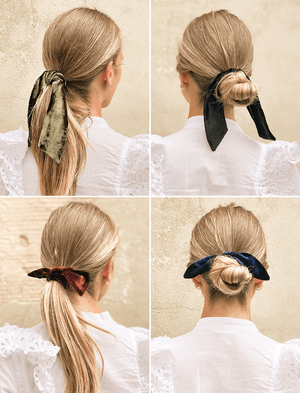 Lio Mara How To Wear A Velvet Hair Tie Style Guide
