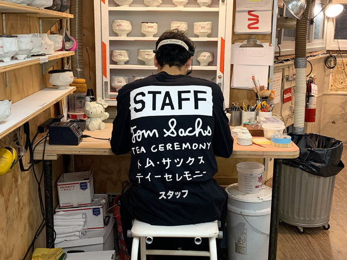 Tea Ceremony Staff Long Sleeve T-Shirt (Printed Matter Edition)