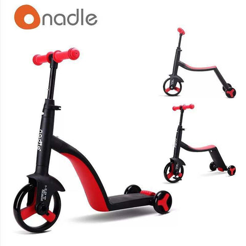 3-in-1 Kids Cart (Red)