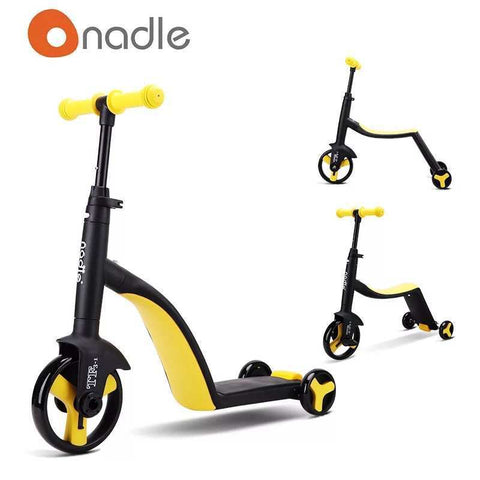 3-in-1 Kids Cart (Yellow)